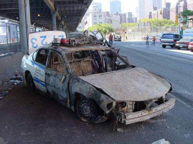 Toasted ppolice car 911