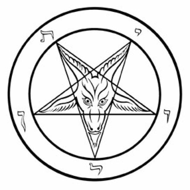 Omgekeerde pentagram is kwaadaardig