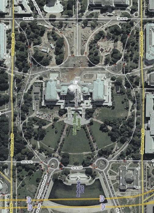 Luchtfoto van Capitol Hill