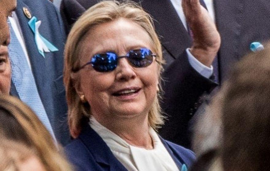 Hillary tijdens 9/11-herdenking