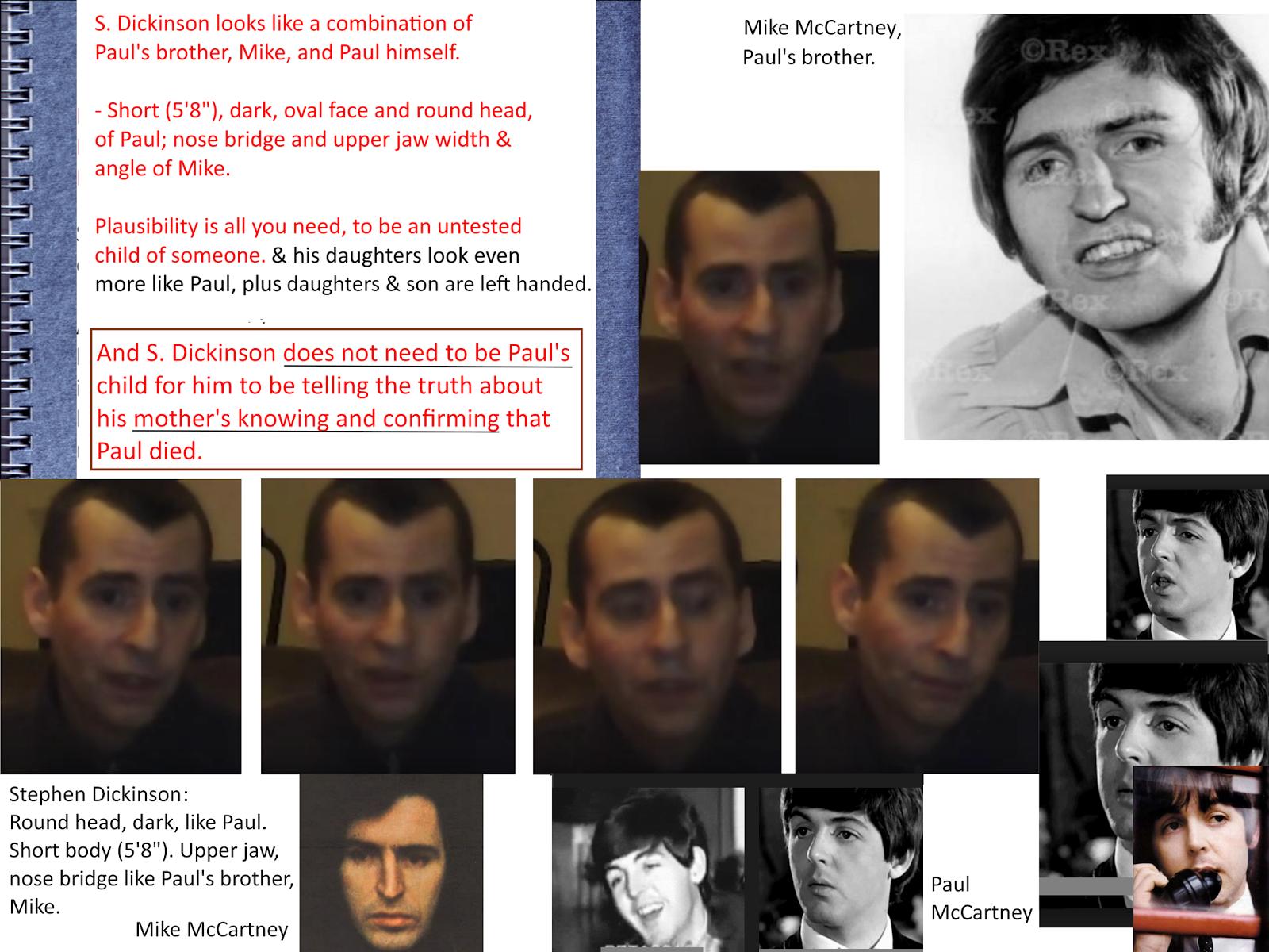 Stephen's gelijkenis met Mike McCartney