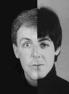 Links Faul (false Paul) en rechts de originele Paul van voor 1967.