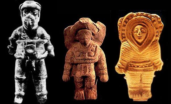 Antieke beelden van astronauten