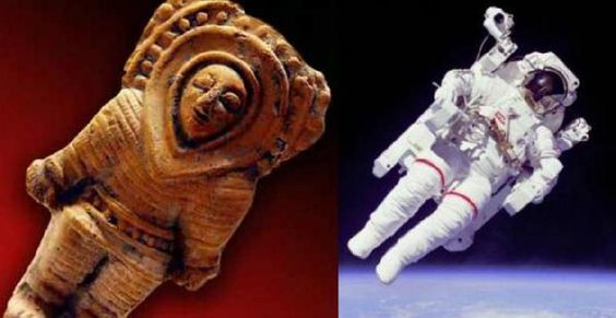Antiek beeld van astronaut
