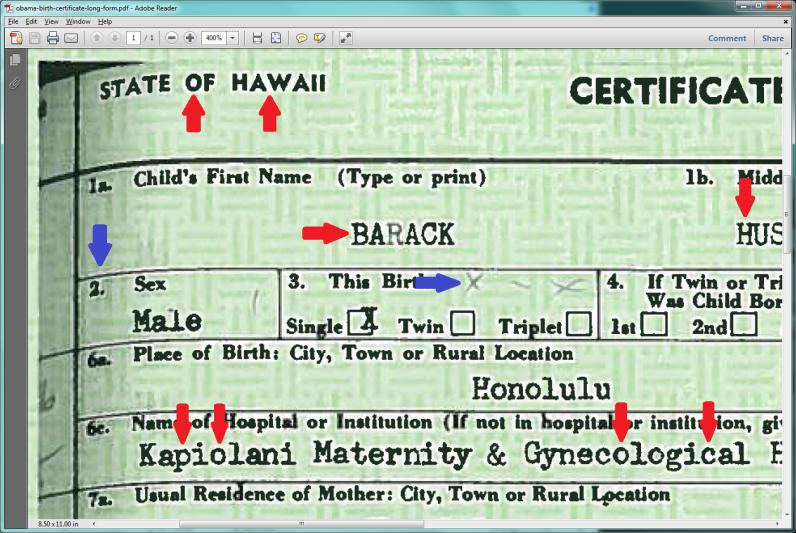 De analyse van Obama's geboorte-akte is vrijgegeven