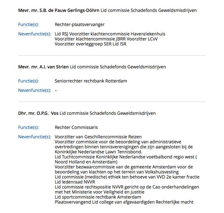 Mr. S. B. de Pauw Gerlings-Döhrn als commissielid van het Schadefonds.