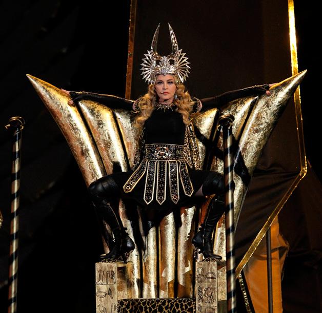 Madonna verkleed als Isis