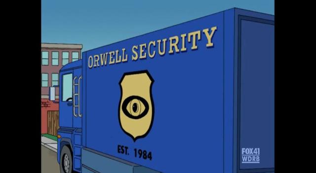 Orwellian alziende oog, Simpsons