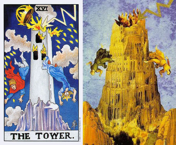 tarotkaart_de-toren-van-babel