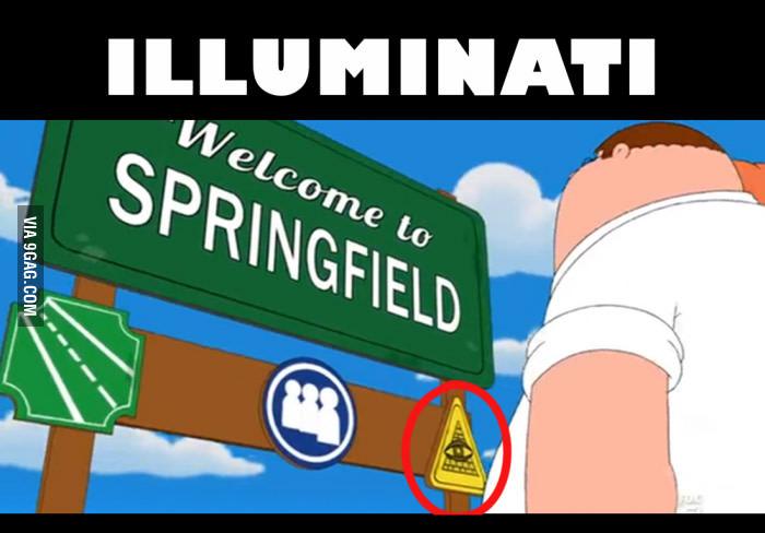 Alziende oog in The Simpsons