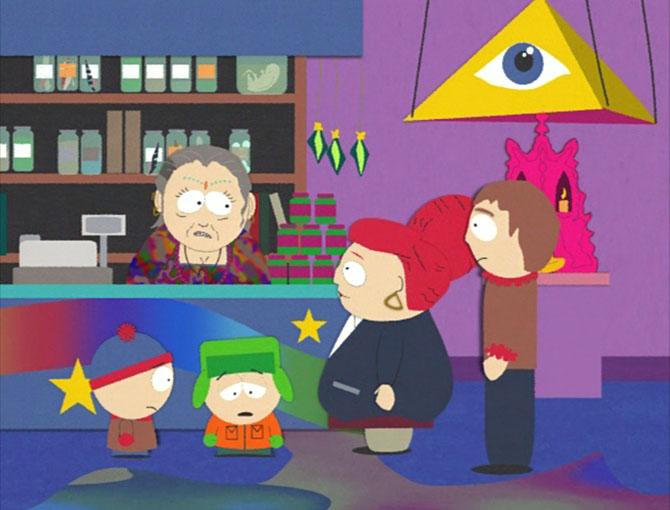 Piramide en alziende oog, South Park