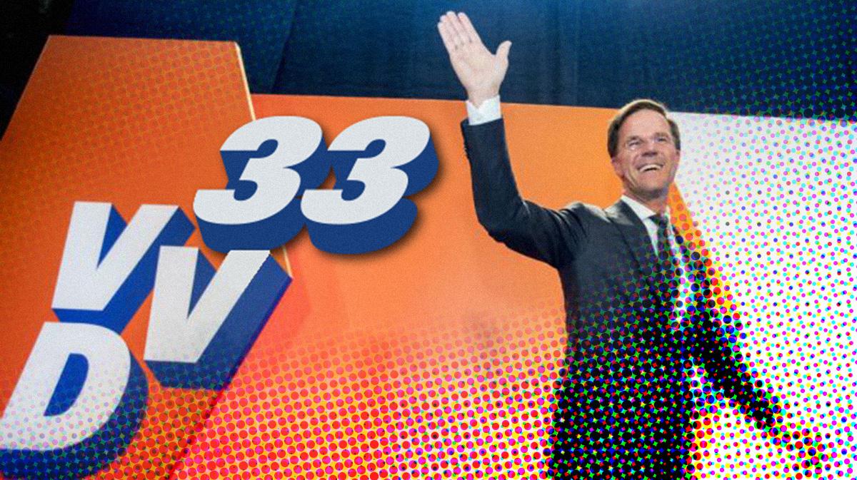 Waarom behaalde Rutte een overwinning van 33 zetels?