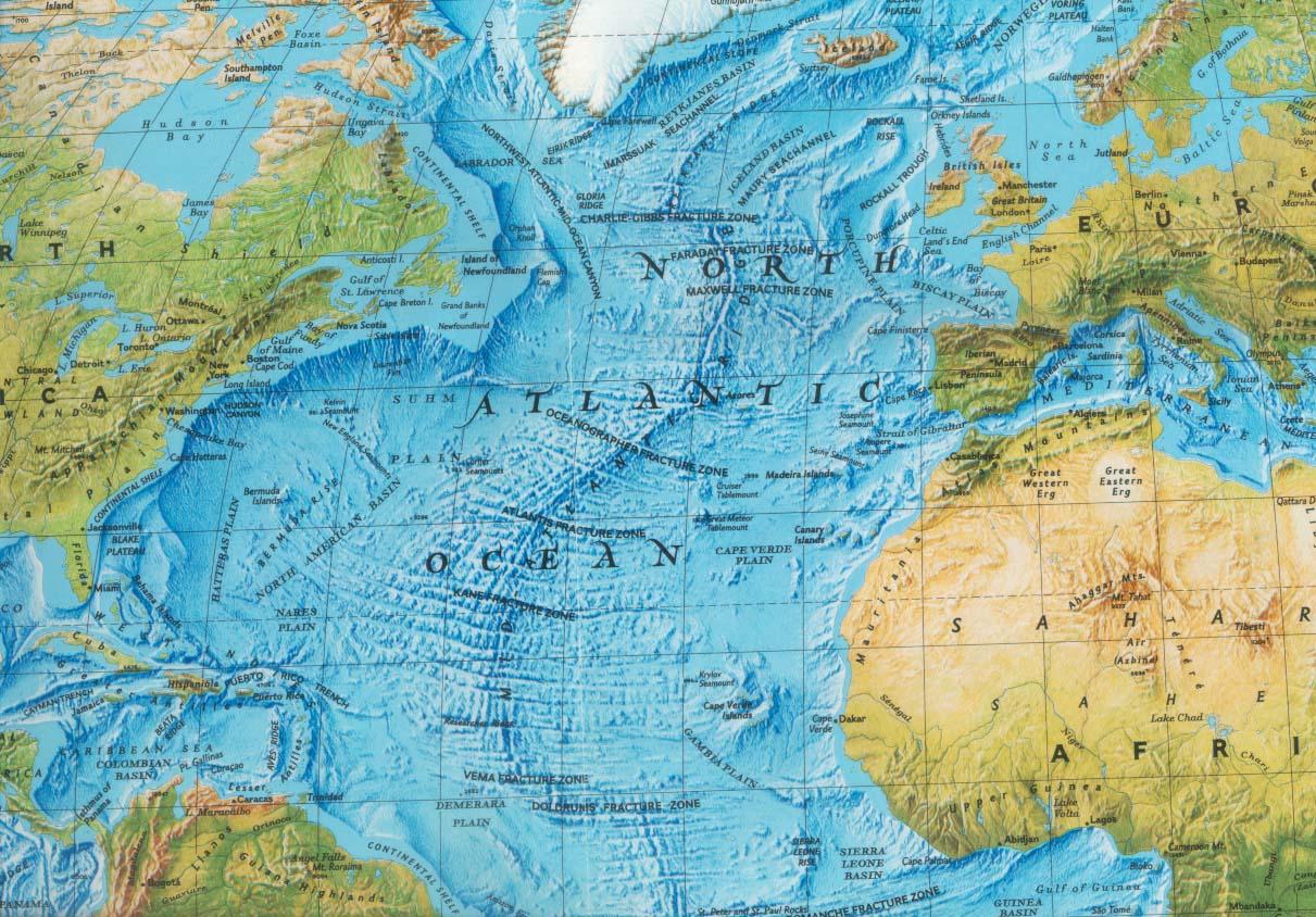 'Gebergte' op de oceaanbodem toont dat een enorm natuurgeweld voor grote veranderingen aan de continenten of oceaanbodem heeft gezorgd
