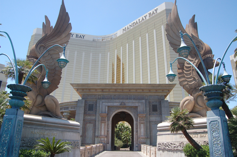 Dragobs at the entrance of the Mandalay Bay hotel