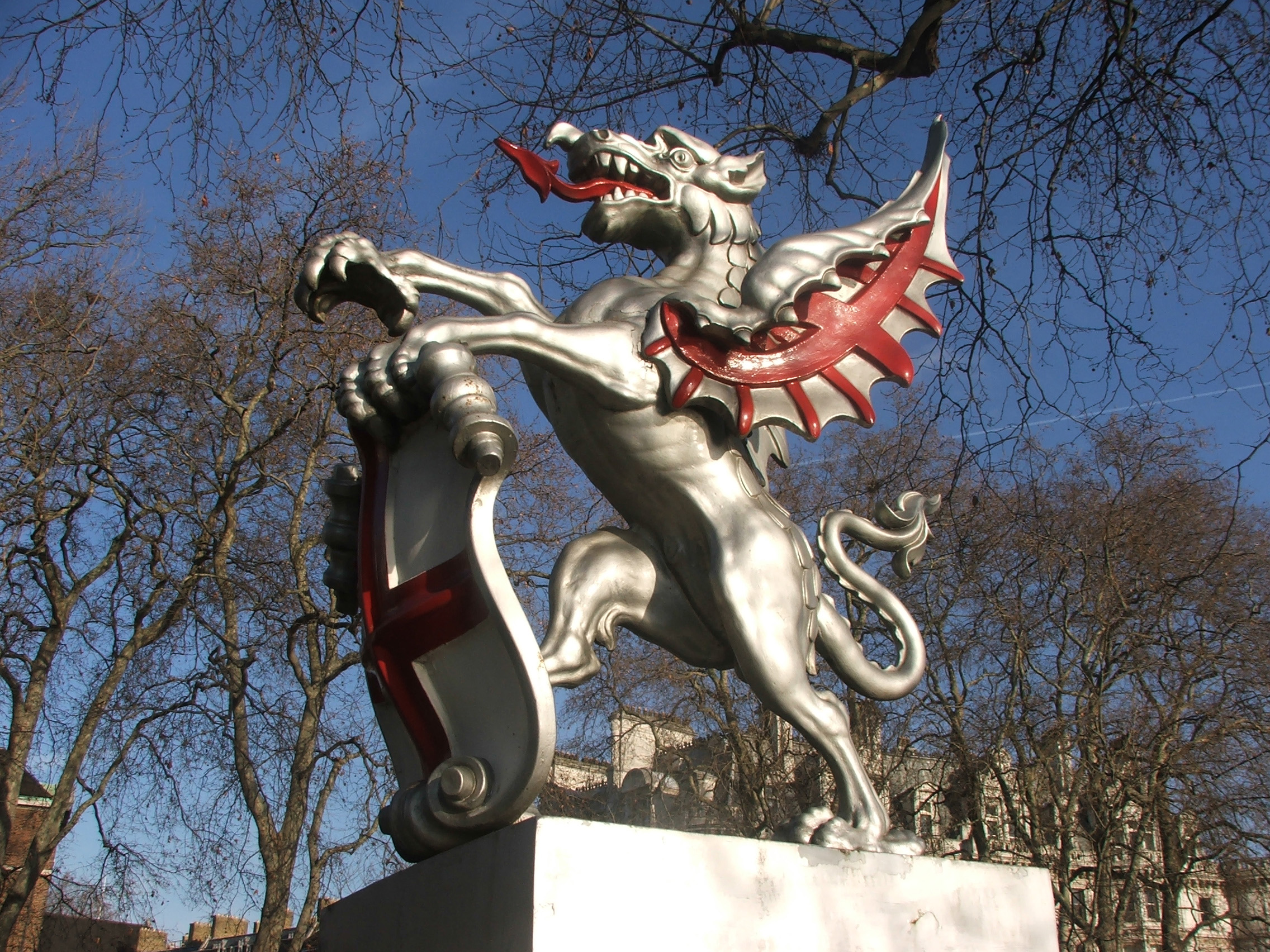 Dragon at the entrance of the City of London