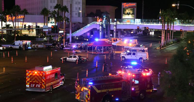 Ambulances en hulptroepen bij het Tropicana