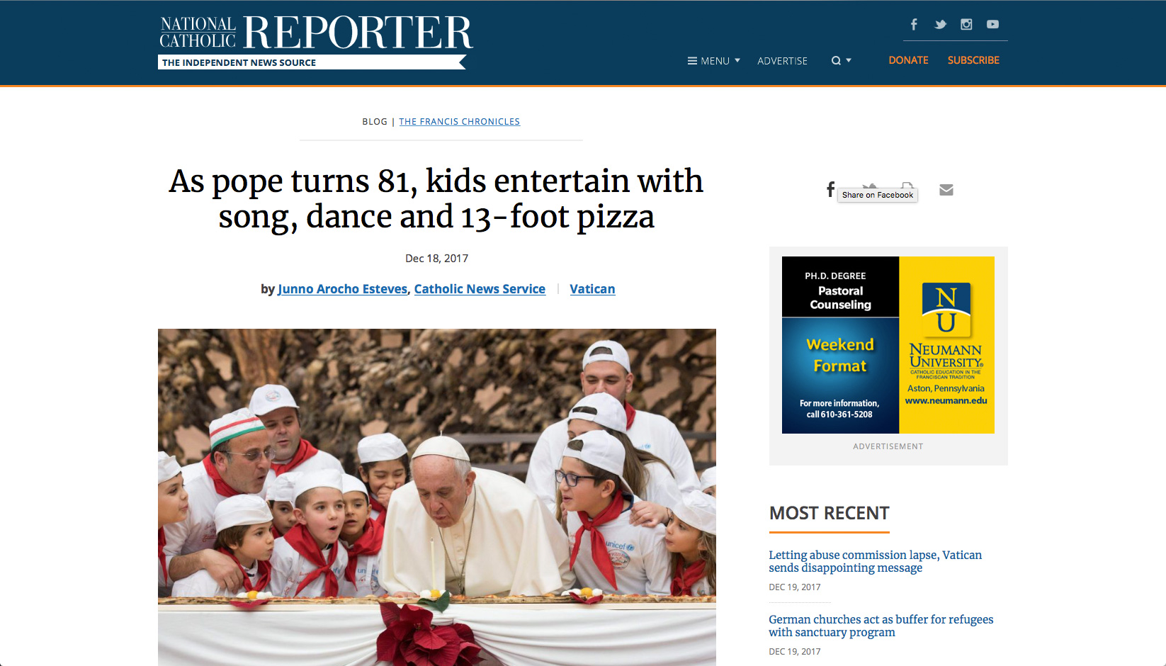 Pope_13-foot_long_pizza-gate
