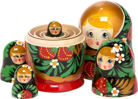 Illustratie Russische Matroesjka poppetjes