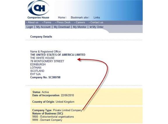 De Verenigde Staten Ltd. is als bedrijf ingeschreven in Edinburgh, Schotland. Land van herkomst: Verenigd Koninkrijk