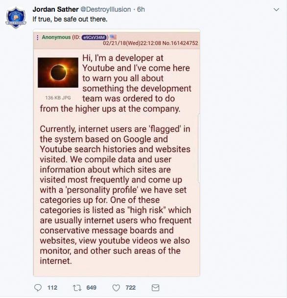 Youtube developer getuigt over monitoren gebruikers