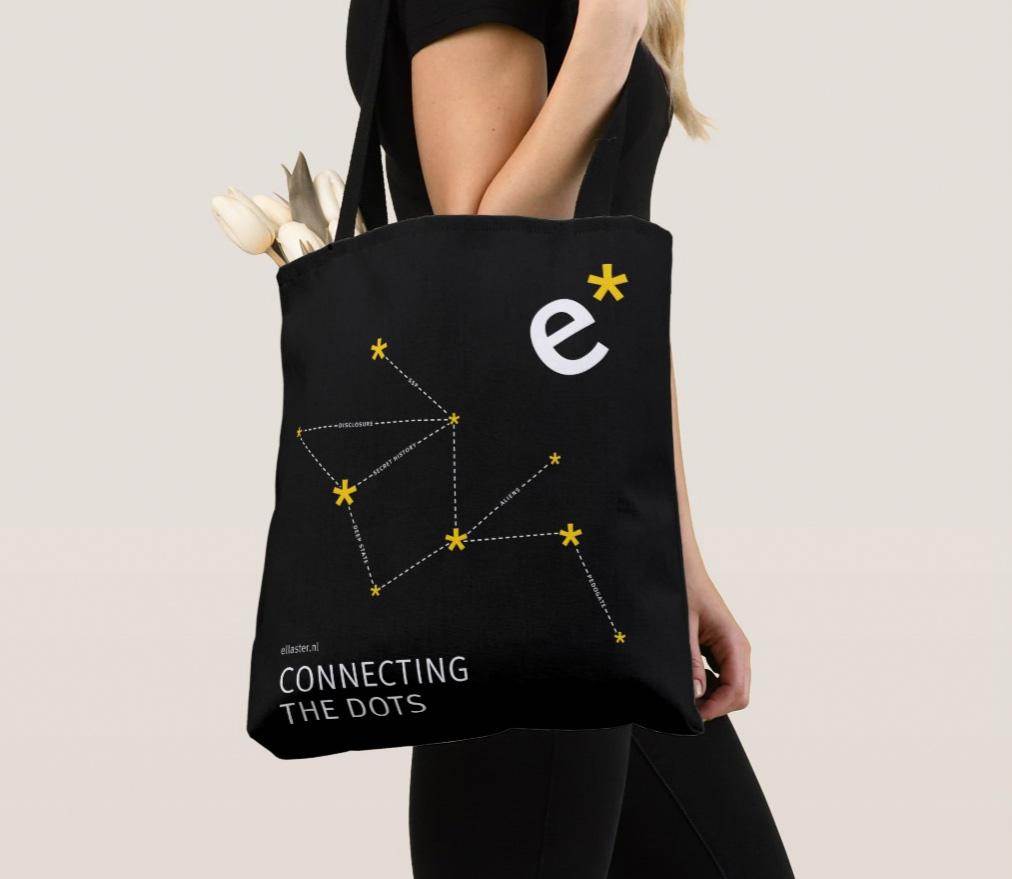 Zazzle_connecting_dots_tas_zwart