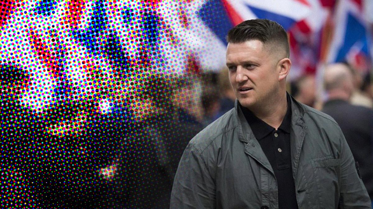 tommy robinson gearresteerd vanwege publicatieverbod pedocriminele bende