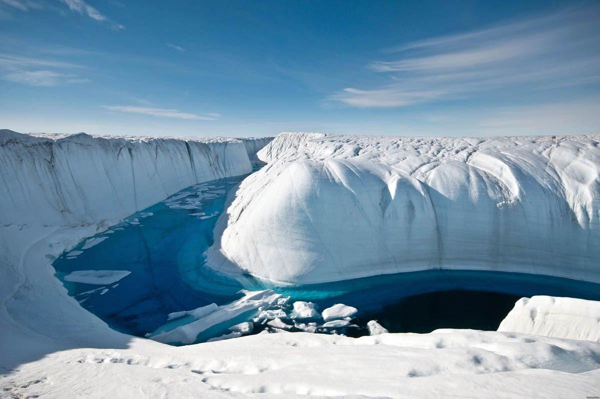 IJslandschap van Groenland