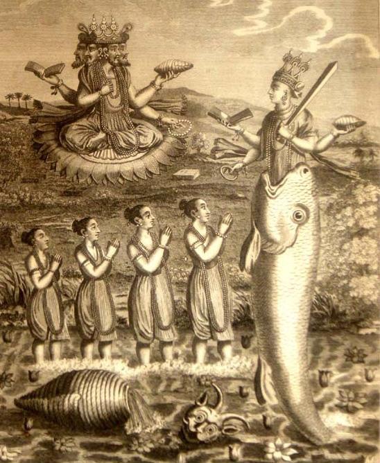 Indiase god Vishnu komt voort uit vis.