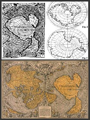 Wereldkaart van Oronteus Finaeus uit 1531.