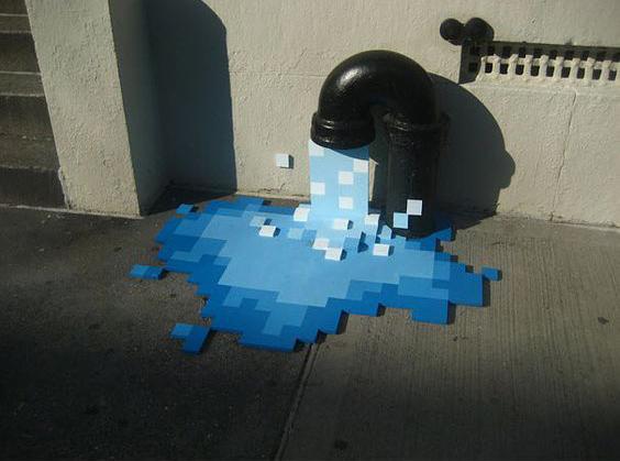 Street-art, kunstenaar onbekend.