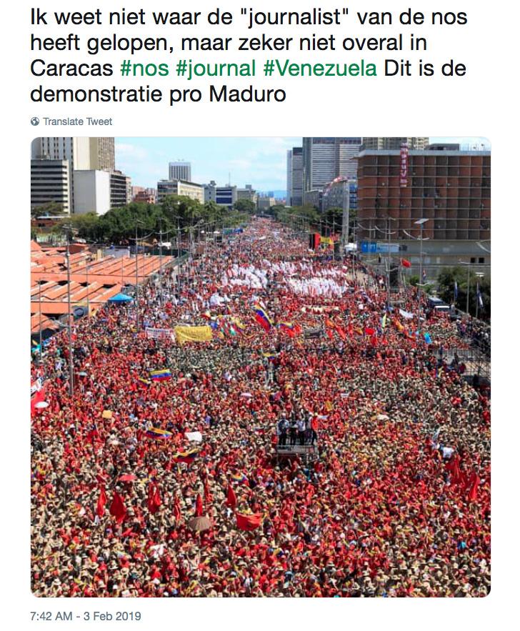 Pro-Maduro demonstratie op 2 februari 2019