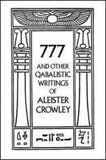 """777 kabbalistische geschriften"""" van Aleister Crowley."""