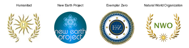 Only a small selection from all the logos and organisations Sacha Stone developed and closely match Agenda 21, as indicated in the first scheme. Exemplar-Zero-initiative is a UN-IGO (Intergovernmental Organisation for the UN).