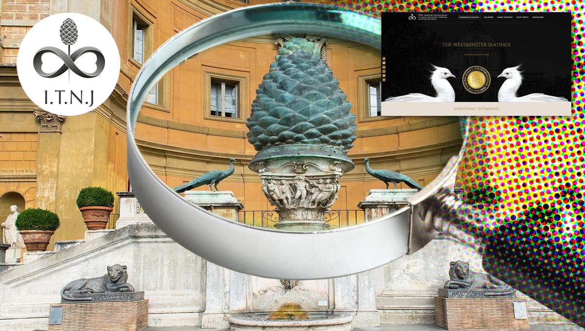 A closer look at the symbolism of the ITNJ (International Tribunal of Natural Justice) ITNJ-logo_Cortile-della-Pigna_166888670-3_scr