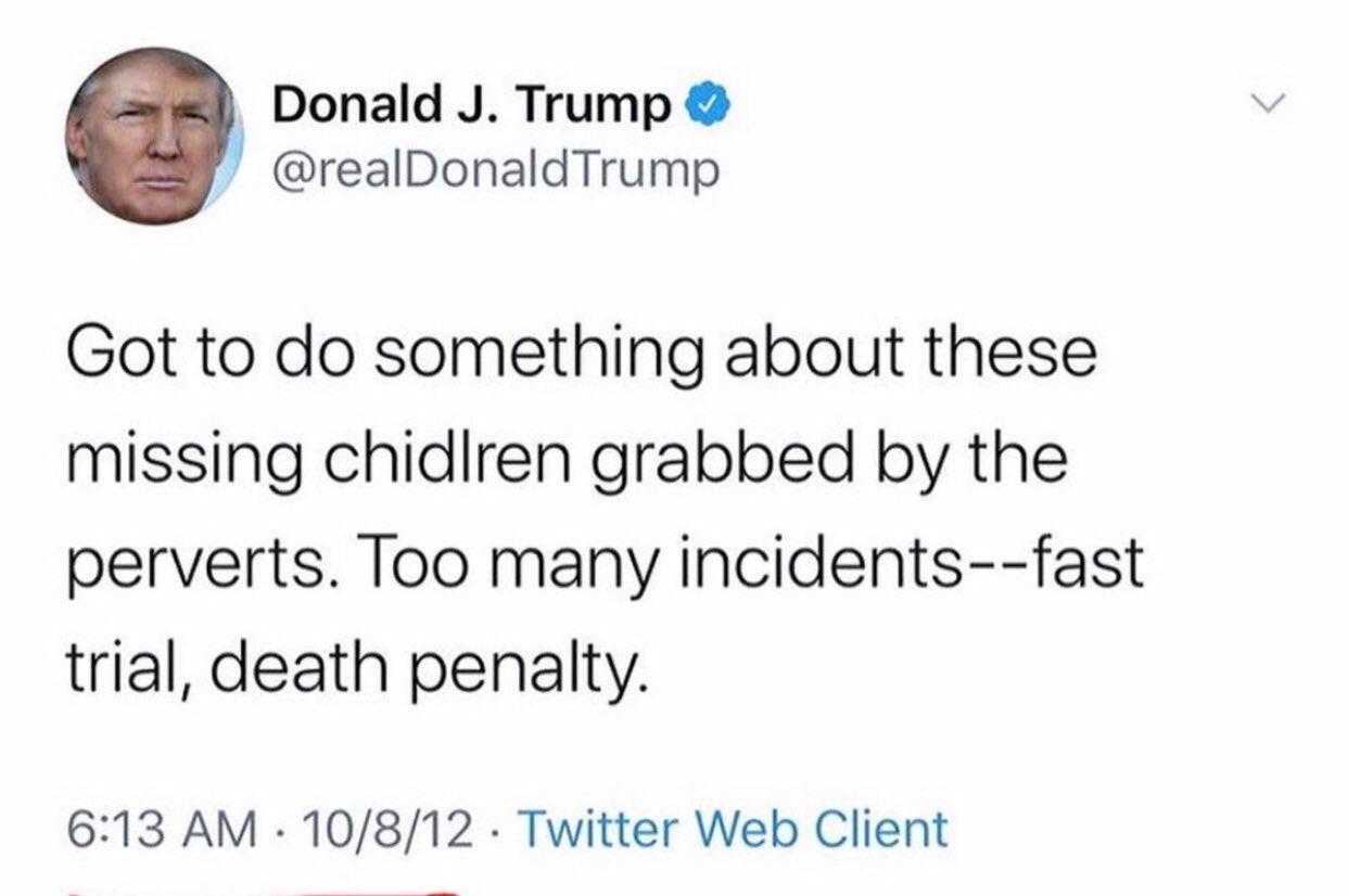 Trump Tweet missing Children 1