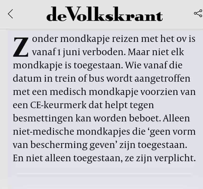 Nederland is het enige land waar een tekort op medische mondkapjes is. Zelfs na maanden nog.
